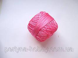 Нитки поліестер (штучний шовк)  для в'язання, вишикання типу Ірис ( Iris ) 20 грам, рожевий