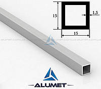 Труба алюминиевая квадратная 15х15х1.5 мм без покрытия ПАС-1865
