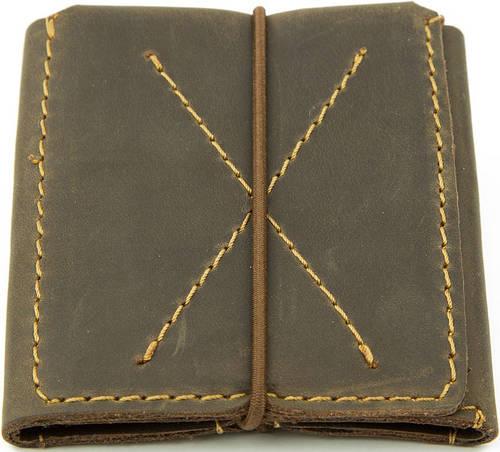 Мужской кожаный тонкий кошелек-портмоне Black Brier П-3-33 коричневый