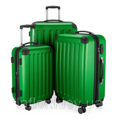 Набор чемоданов Hauptstadtkoffer Spree зеленый 3 штуки, фото 2