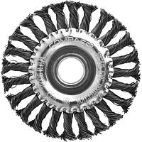 Щетка дисковая Compass 125 мм из плетенной проволоки