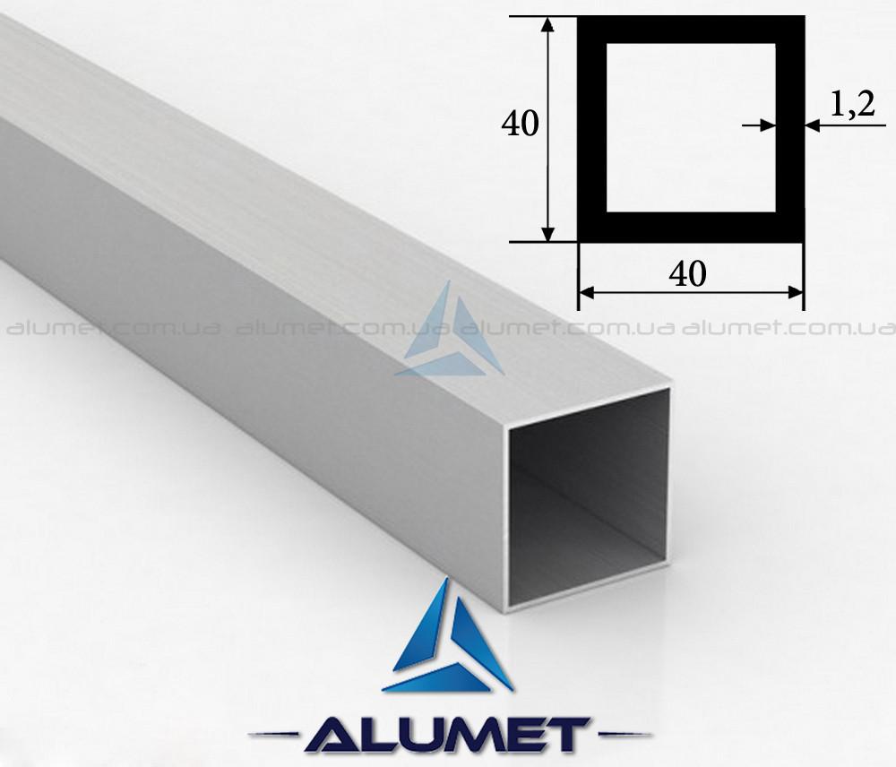 Труба алюминиевая квадратная 40х40х1.2 мм анодированная ПАА-1092 (БПЗ-5816)