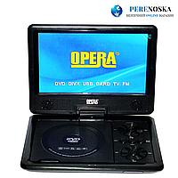 """9,8"""" Портативный DVD плеер Opera аккумулятор TV тюнер USB"""