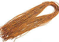 Шнурки для обуви с пропиткой (120см) круглые, цвет рыжий, (упаковка 36пар, Ø 2мм) ЦВ-№086