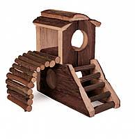 Дом-замок для хомяка, натуральное дерево (17,3*10,7*14,4см), Trixie™