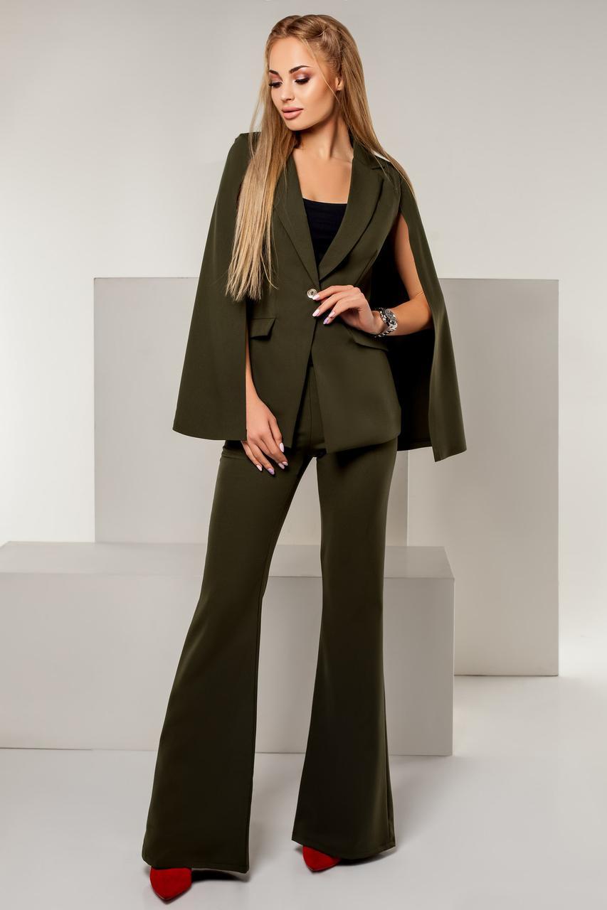4cc9af9ff0a46a5 Женский нарядный костюм пиджак+брюки клеш -
