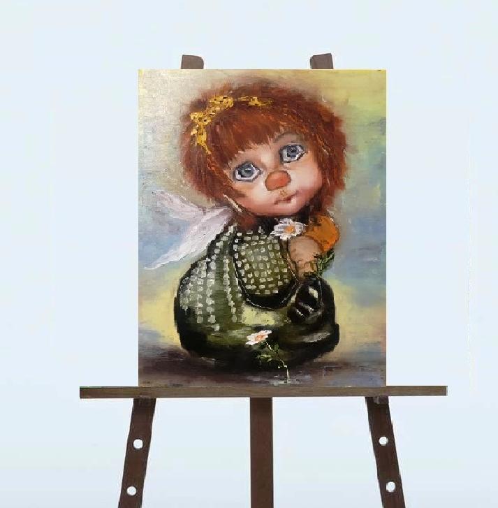 """Картина """"Янгол з квітами"""","""