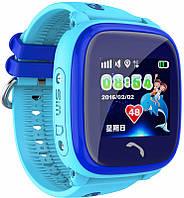 Детские часы Smart Baby watch DF25 с GPS трекером waterproof (синие)