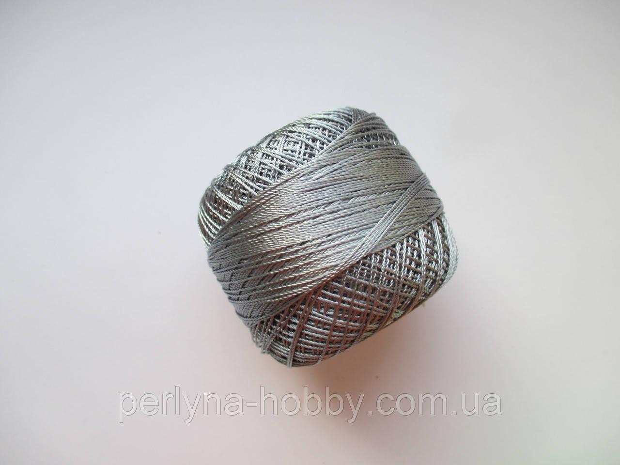 Нитки поліестер (штучний шовк) типу Ірис ( Iris )  20 грам, сірий темний