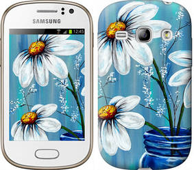 "Чехол на Samsung Galaxy Fame S6810 Красивые арт-ромашки ""4031c-254-328"""