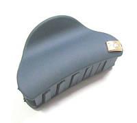 Заколка-краб для волос каучук L 6 см синяя
