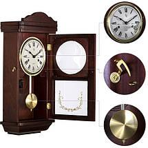 Деревянные настенные часы Sinocal с маятником и боем, махагон, фото 2
