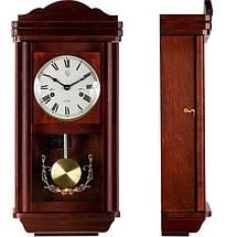 Деревянные настенные часы Sinocal с маятником и боем, махагон, фото 3