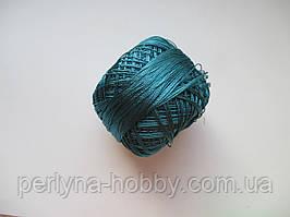 Нитки поліестер (штучний шовк) типу Ірис ( Iris )  20 грам, темна морська хвиля