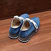 80141| Женские кроссовки на серой подошве. Синие из замши, фото 4