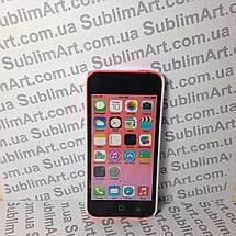 Чехол для 2D сублимации пластиковый Iphone 5C белый, фото 2