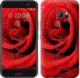 "Чехол на HTC 10 Красная роза ""529c-464-328"""