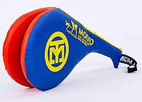 Ракетка для тхэквондо двойная MOOTO F-06-BL синяя