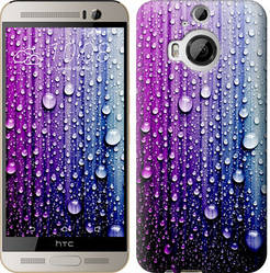 """Чехол на HTC One M9 Plus Капли воды """"3351c-134-328"""""""