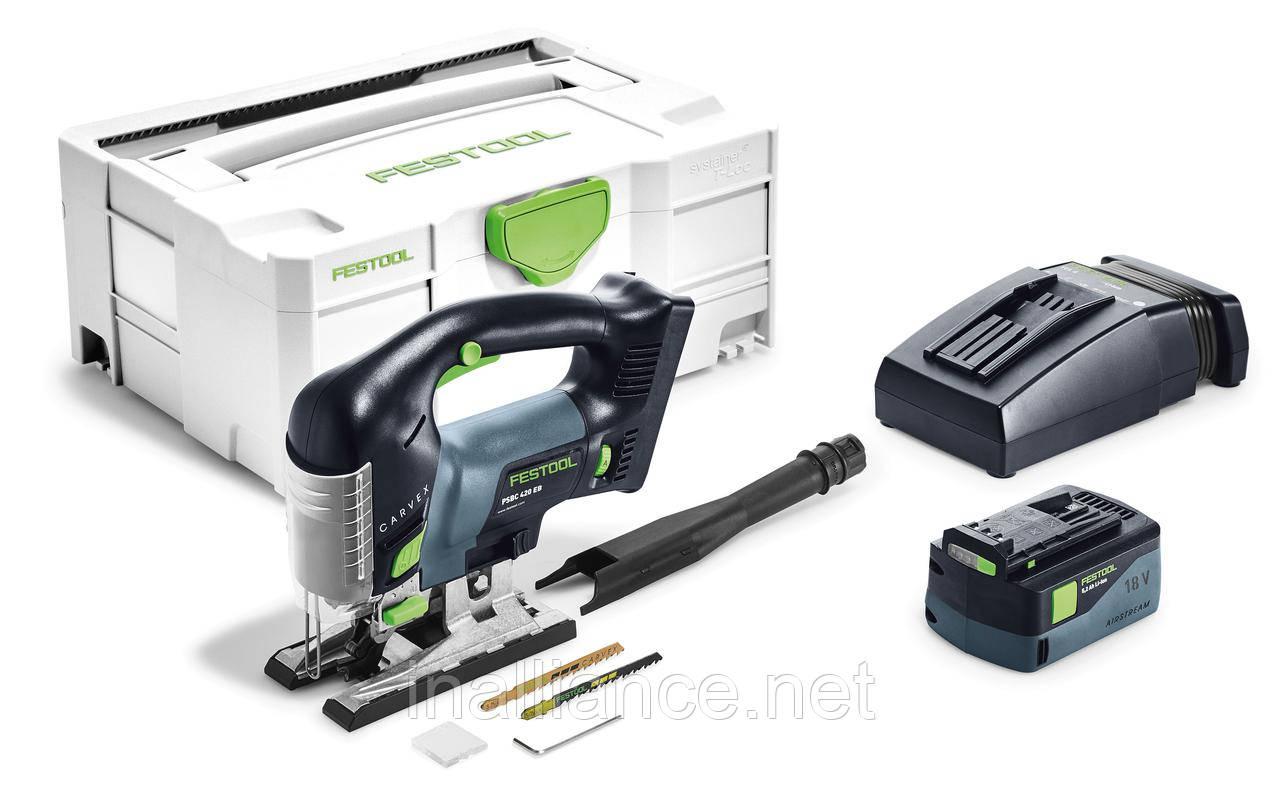 Аккумуляторный маятниковый лобзик CARVEX PSBC 420 Li 5,2 EB-Plus Festool 201380
