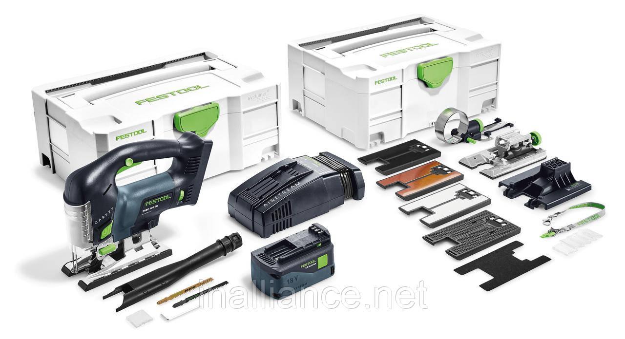 Аккумуляторный маятниковый лобзик CARVEX PSBC 420 Li 5,2 EBI-Set Festool 575741