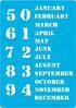Трафарет Вечный календарь английский