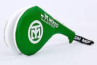 Ракетка для тхэквондо двойная MOOTO F-06-G зеленая
