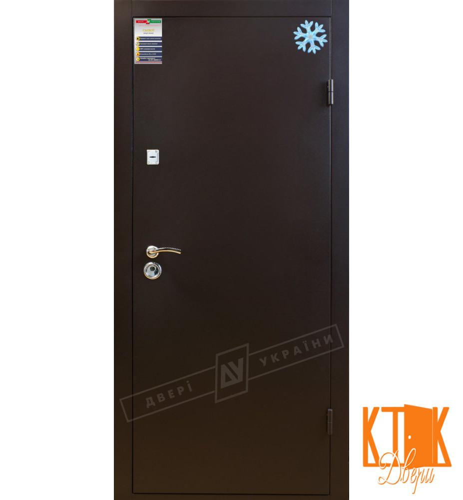 """Уличная дверь """"Металл/Металл"""" серии """"Салют"""" (RAL 8019 (порошковая покраска) )"""