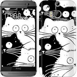 """Чехол на HTC One M8 dual sim Коты v2 """"3565c-55-328"""""""