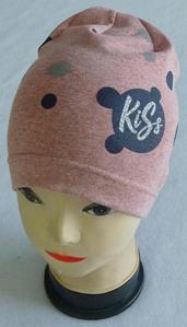 """Шапка буратіно для дівчаток """"Kiss"""", одинарна , р 3-8 років"""