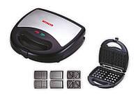 Сэндвичница Vitalex VL-5008 (3 в 1), универсальный прибор гриль/сэндвичница/вафельница
