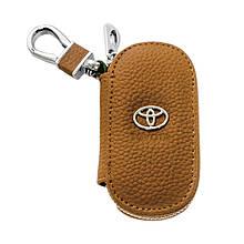Ключница Carss с логотипом TOYOTA 07001 коричневая