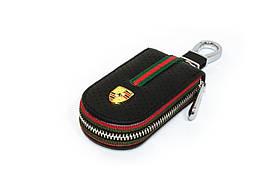Ключница Carss с логотипом PORSCHE 06007 черная