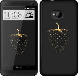 """Чехол на HTC One M7 Черная клубника """"3585c-36-328"""""""