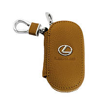 Ключница Carss с логотипом LEXUS 13001 коричневая