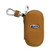 Ключница Carss с логотипом FORD 03001 коричневая