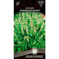 Семена Golden Garden Базилик зеленый Лимонный аромат 0.3 г