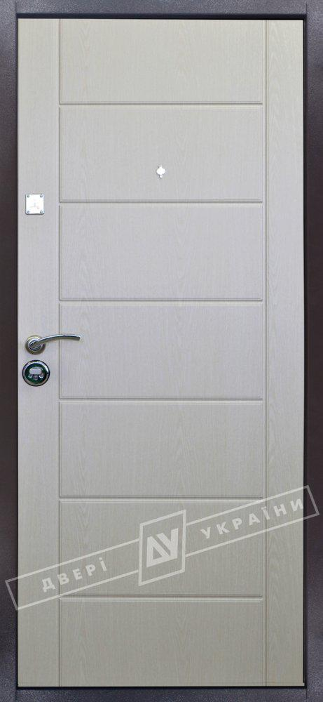 "Входная дверь ""Металл/МДФ ""Ника"""" серии ""Салют"" (RAL 8019  / Дуб цинамон 1101-07)"