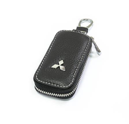 Ключница Carss с логотипом MITSUBISHI 11010 черная, фото 2