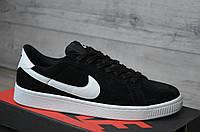 Кроссовки мужские Nike SB код товара SP-1128 Материал замша,подошва резина. Черные с белым