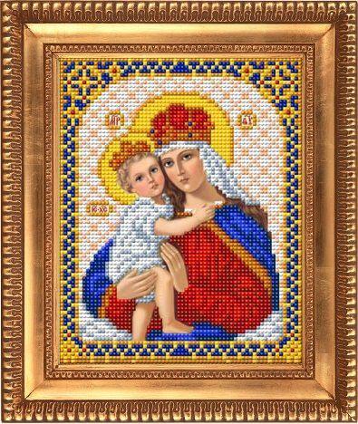 """Схема для вышивки бисером """"Дева Мария с младенцем Иисусом"""" И-5034"""