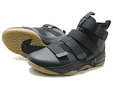 Баскетбольные кроссовки  Nike Lebron Soldier 11 черный (реплика)