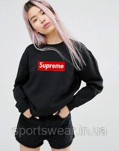 Supreme , Женский свитшот Суприм черный