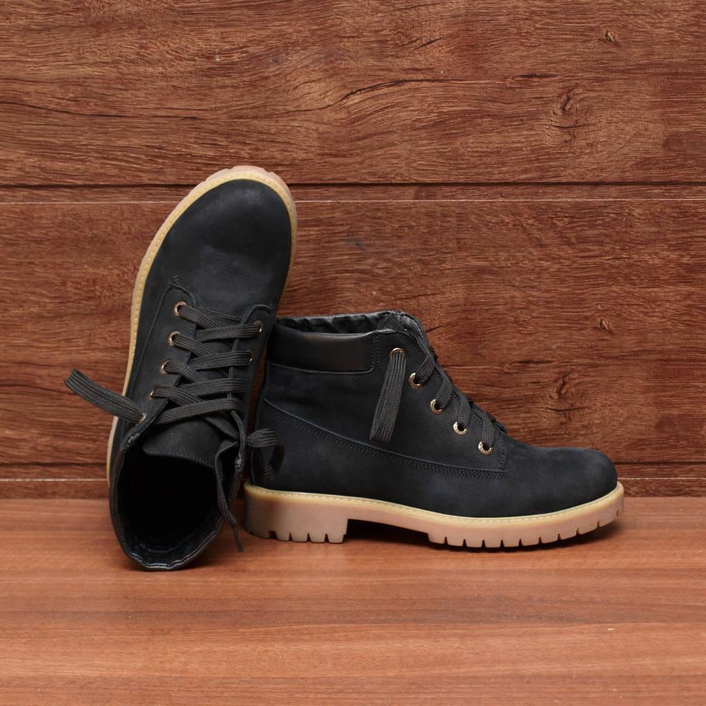 Черные Замшевые Ботинки: 38 размер — женские демисезонные на шнурках