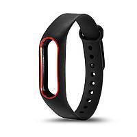 Браслет, ремешок Xiaomi Mi band 2 Черный с красной окантовкой