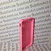 Чехол для 2D сублимации резиновый (TPU) на Iphone 4/4S розовый