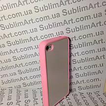 Чехол для 2D сублимации резиновый (TPU) на Iphone 4/4S розовый, фото 3