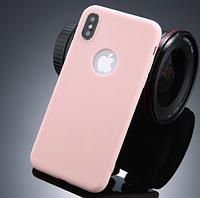 Силиконовый персиковый чехол для Iphone Х
