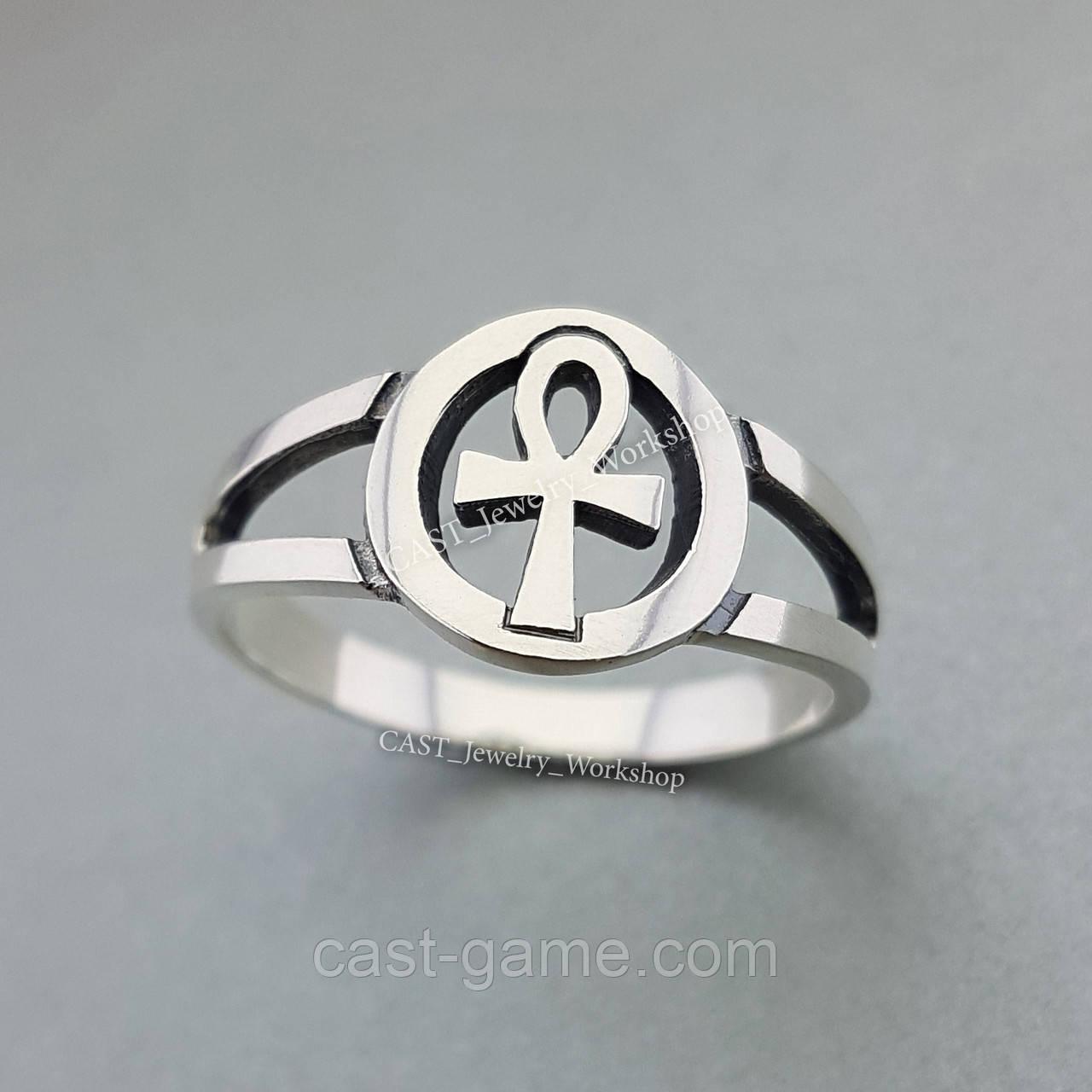 858f40989f9f Анкх кольцо серебро 925 пробы - CAST ювелирная мастерская в Харькове