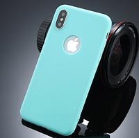 Силиконовый бирюзовый чехол для Iphone Х